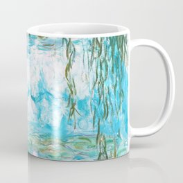 Water Lilies Monet Aqua Turquoise Coffee Mug