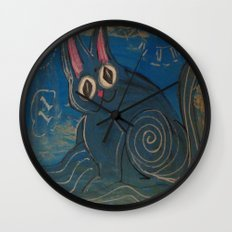 Wave Kitty Wall Clock