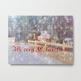 Country Merry Christmas Metal Print