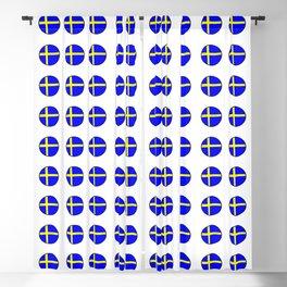 flag of sweden 3 Swedish,Sverige,Swede,Stockholm,Scandinavia,viking,bergman, strindberg Blackout Curtain