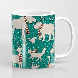 Woodland Animals in Scarves Coffee Mug