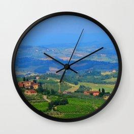 Hills of Tuscany Wall Clock