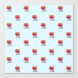 My heart goes faster for you pattern Canvas Print
