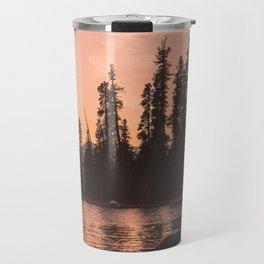 Forest Island at the Lake - Nature Photography Travel Mug