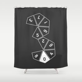 Grey Unrolled D10 Shower Curtain