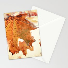Sugar Coated Maples, Nostalgic fall home decor Stationery Cards