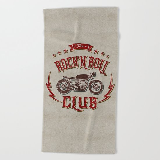Rock 'n Roll Motorcycle Club Beach Towel