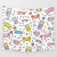 gaming Wall Tapestries featuring Gaming by Irene Florentina