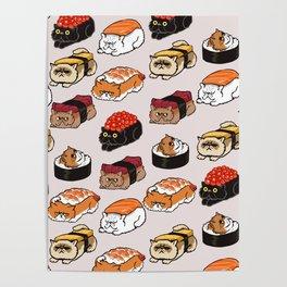 Sushi Persian Cat Poster