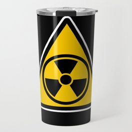 radioactive warning triangle Travel Mug