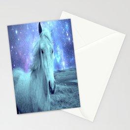 Celestial Dreams Horse Periwinkle Lavender Aqua Stationery Cards