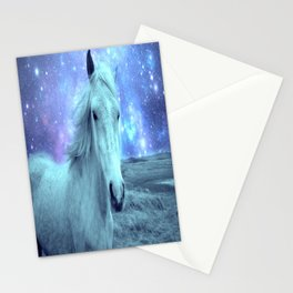 Celestial Dreams Horse Periwinkle Lavender Aqua Stationery Cards