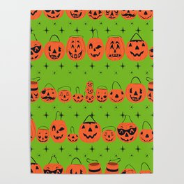 Trick or Treat Smell My Feet- Green Poster