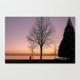 Geneva Lake In Wintertime Canvas Print