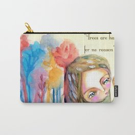 Trees are happy for no reason Osho quote inspirational words Carry-All Pouch