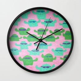 Cool Cactus Pattern Wall Clock