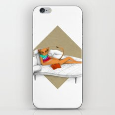 napping while reading iPhone Skin
