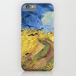 Wheatfield with Crows by Vincent van Gogh iPhone Case