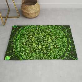 Green sun and her planets Rug
