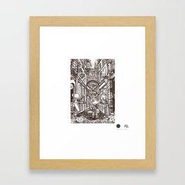 Town Motto Framed Art Print