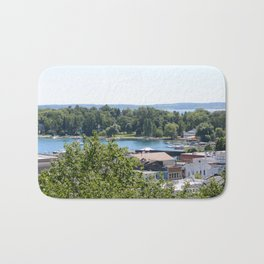 Harbor Springs Bay- View from Bluff (1) Bath Mat