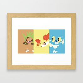 PKMN Kalos Starters Framed Art Print