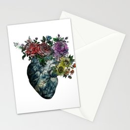 Flowered Heart Stationery Cards