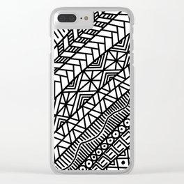 Quick Doodle Clear iPhone Case