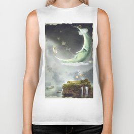 Night. Time of miracles and magic Biker Tank