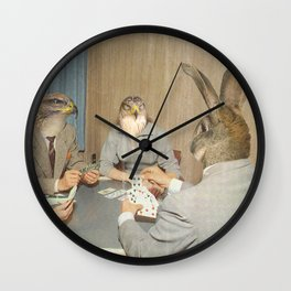 Too Late Mr. Hudson - Poker Wall Clock