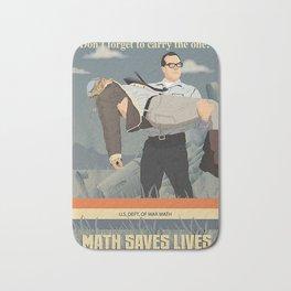 MATH SAVES LIVES Bath Mat