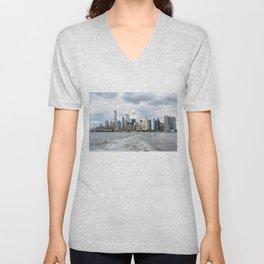 NYC Skyline 2017 Unisex V-Neck