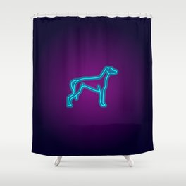 NEON GREYHOUND DOG Shower Curtain