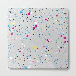 Chaotic circles pattern. Confetti #3 Metal Print
