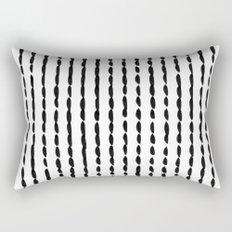 Vertical Black Ink Dash Lines Rectangular Pillow