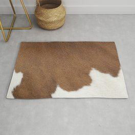 Brown Cowhide, Cow Skin Pattern, Farmhouse Decor Rug