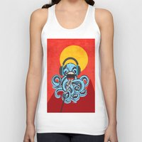 squid Tank Tops featuring Squid by Janice