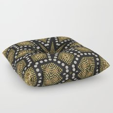Black Gold | Geometric Tribal Floor Pillow