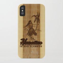 Tradewinds Hawaiian Island Hula Girl iPhone Case