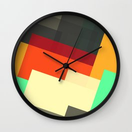 Miscellaneous retro shapes Wall Clock