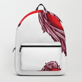 Heart With Angel Wings Vector Backpack