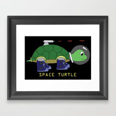 Space Turtle Framed Art Print
