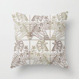 Ladies Only - Mid Century Modern Neutrals Throw Pillow