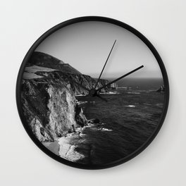 Monochrome Big Sur Wall Clock