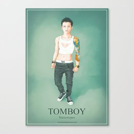 Tomboy. Stereotypes Collection. Canvas Print