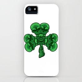 Cloverleaf Skull - St. Patrick's Day Luck iPhone Case