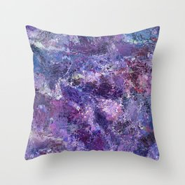 Violet Drops Abstraction Throw Pillow