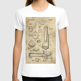 Ice Cream Scoop Blueprint Industrial Farmhouse T-shirt
