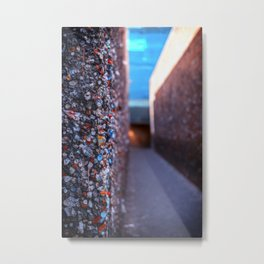 Do you dare enter Bubblegum Alley Metal Print