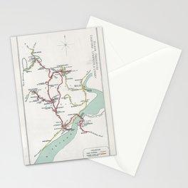 Railway Junction Diagram (1914) 086 - Bilson, Cinderford, Coleford, Lydbrook, Lydney Stationery Cards